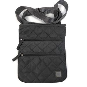Ellington Gray Quilted Crossbody Purse